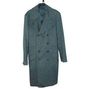 Zara Man Wool Trench Pea Coat Jacket Mens Large